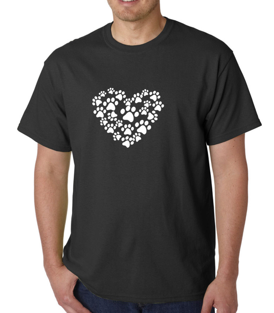 Heart Paw T Shirt Dog Cat Animal Lover Pet Tee T Shirt Valentines Day Love Paws2019 fashionable Brand 100%cotton Printed Round N