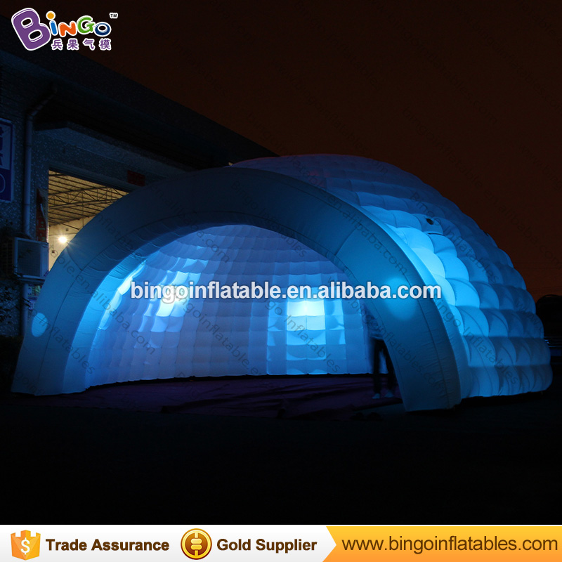 Free delivery 8x4 M LED lighting inflatable dome tent inflatable igloo blow up play house with blower for kids event toy tent free shipping inflatable house shaped cube tent with window for events toy tent