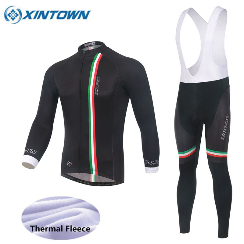 2018 Winter Fleece Thermal Cycling Team Italy Cycling Jersey Wear Clothing Maillot Ropa Ciclismo Mtb Bike Bicycle Long Clothing pro team long sleeve cycling jersey women 2017 ropa ciclismo mujer winter fleece mountan bike wear clothing maillot cycling set