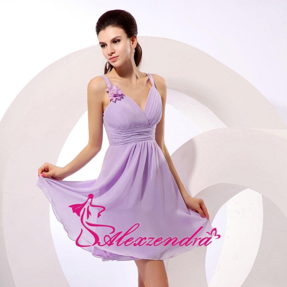 Alexzendra Sweetheart Chiffon A Line Mini Simple Prom Dresses Party Dresses Plus Size