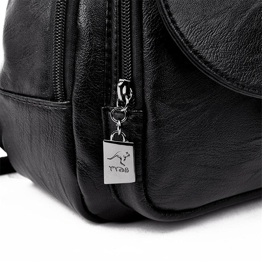 HTB1S5mdXPzuK1RjSspeq6ziHVXaO New 2018 Women Leather Backpacks Vintage Shoulder Bag Winter Female Backpack Ladies Travel Backpack Mochila School Bags For Girl