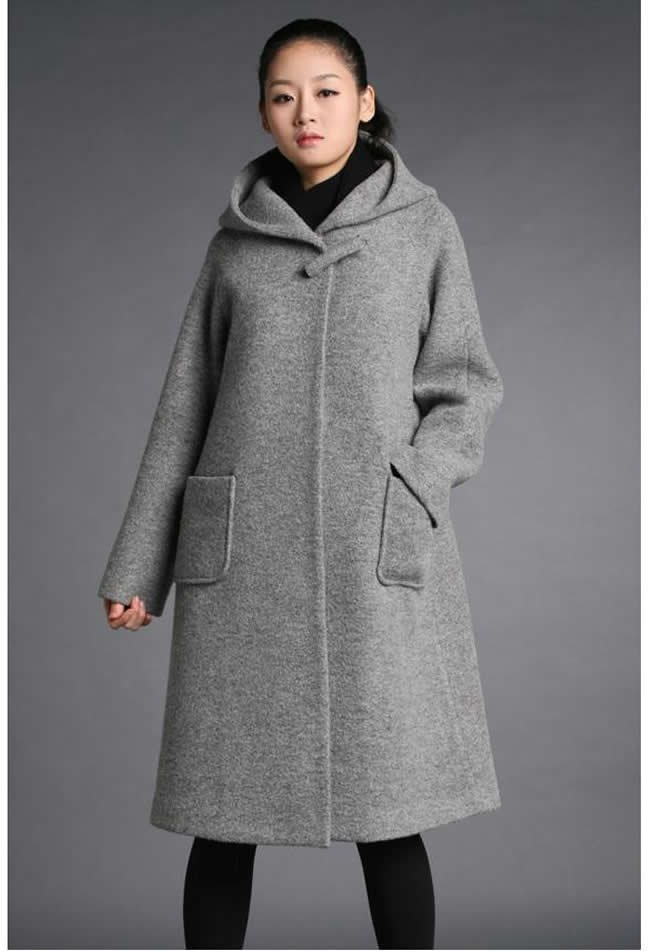 Online Shop Fashion Women super long wool coats trench coat plus ...