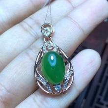 KJJEAXCMY boutique jewelry,Natural Hetian Biyu Women Necklace Pendant wholesale 925 silver wholesale wholesale