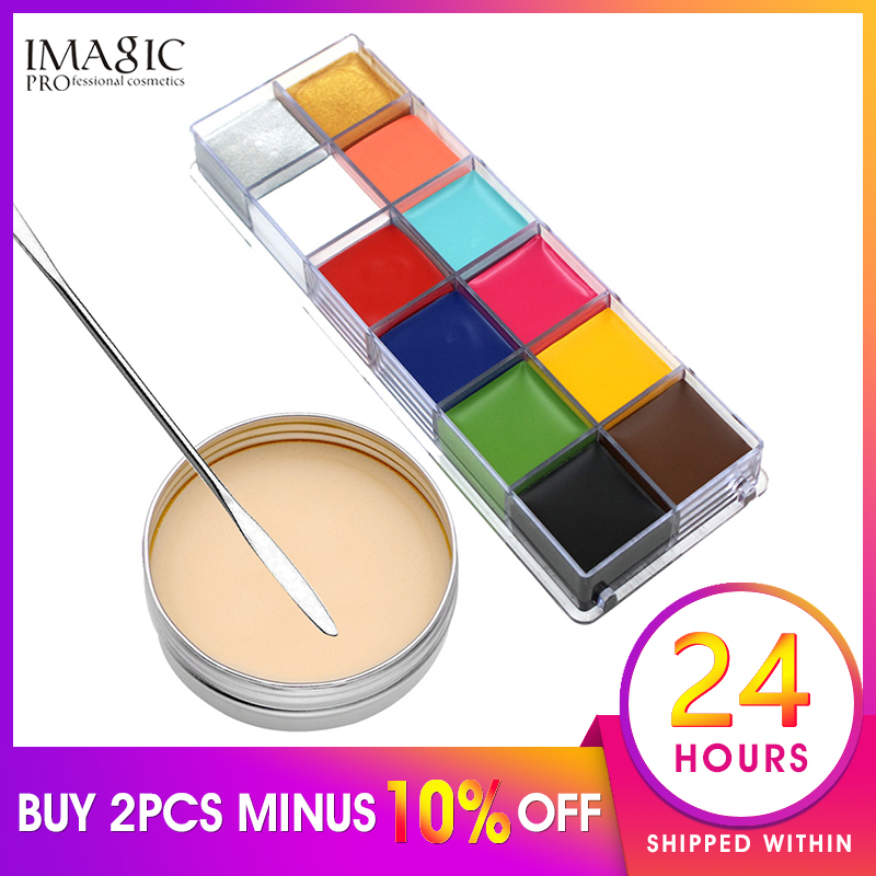 IMAGIC Halloween Facial Special Effect Makeup Whit Body Painting  Make-Up For Costume Ball HalloweenPainting  Makeup