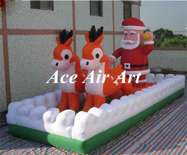 Outdoor Led Lighted Sleigh Christmas Decoration
