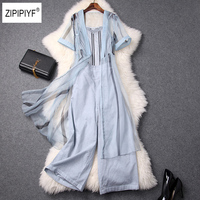 Sexy Cardigan Cloak+Striped Tops and Pants Set Fashion Women OL 3 Piece Set Summer Style Tees and Wide Leg Pants Suit B1204