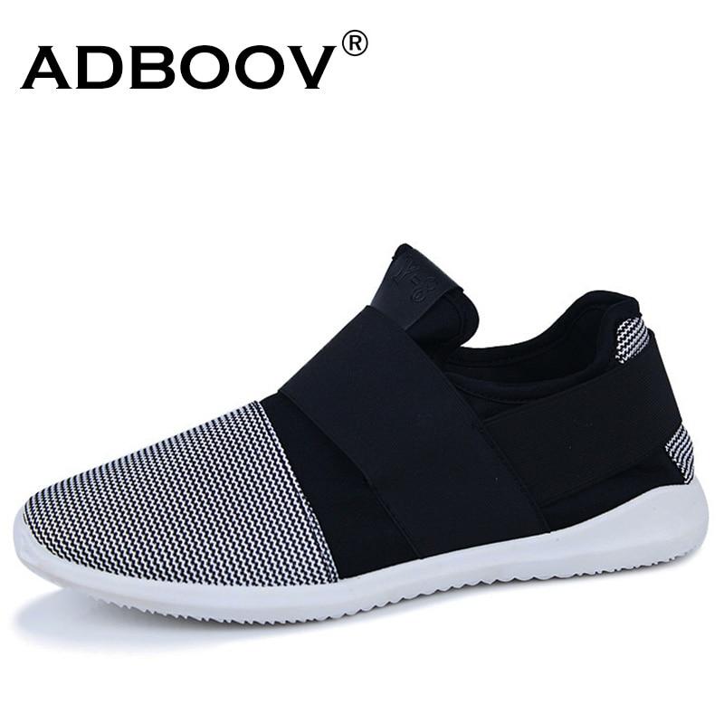 Pas cher livraison gratuite stretch tissu mens mocassins noir blanc couleur tissu patchwork loisirs toile chaussures pour mans quelques pas cool chaussures