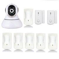 NEW GSM Alarm & IP Network Camera with Wireless PIR & Door Sensor Alarming Alert System