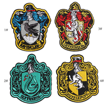 Harley Potter Movie Patches Four colleges Badge Clothes Patch Hogwarts School of Magic Badges Jackets coats Embroidered