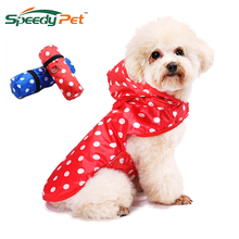 Cute Dog Raincoat Waterproof Clothes Dog Puppy outdoor walking Casual Rain Jacket S-XL For Small Medium Big Dogs Pet Supplies