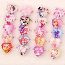 Wholesale Jewelry 2017 New Arrival 50pcs Lovely Mix Resin Cartoon Snow Queen Girls Princess Children/Kids Rings Free Shipping
