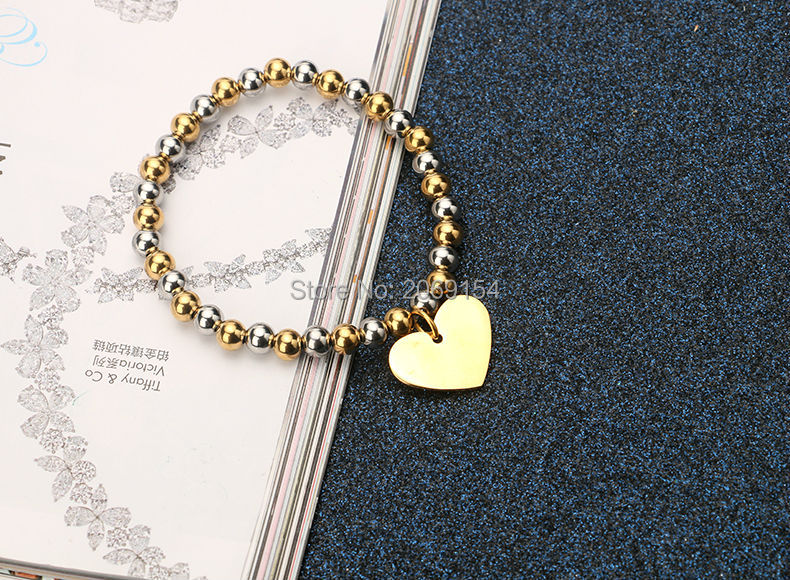 Bead Bracelets Wholesale Lot Fashion Stainless Steel Wrap Bracelet For Women Classic Charm Gold Jewelry Vintage Cuff Bangle 1