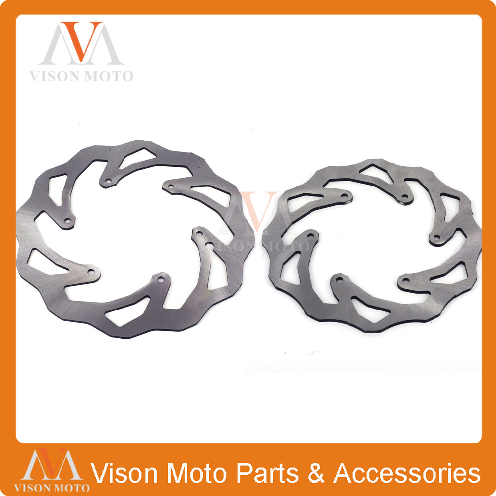 Front&Rear Wavy Brake Disc Rotor Set For KTM EXC EXCF SX SXS SXF XC XCW XCF XCFW MX MXC EGS SMR SXC LC4 SC Six Days Dirt Bike orange 120l chain front rear sprockets set for ktm exc excf sx sxf sxs xc xcw xcf xcfw mx mxc lc4 smr six days motocross enduro