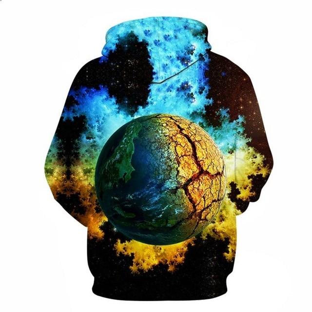 FILLMANNS Space Universe planet Hoodies Hooded Men/Women Hat 3d Sweatshirts Print Colorful Nebula Thin Autumn Sweatshirts  1