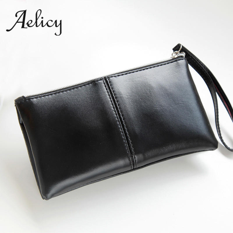 Aelicy Candy Women Wallets Oil Leather Wallet Long Design Day Clutch Casual Lady Cash Purse Women Hand Bag purse card holder