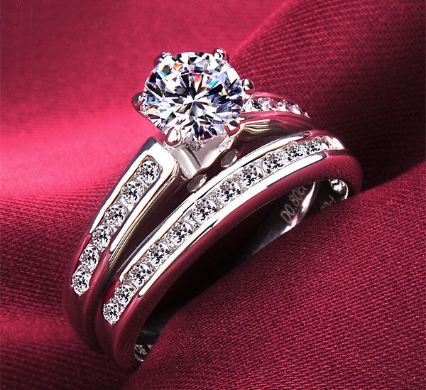 Europe fashion Classic wedding ring engagement ring 18K crow female