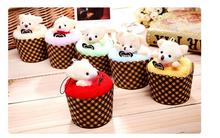 100pcs/lot! New Arrival Creative Lovely Mini Bear Cup Cake Towel Cotton Hand Towel Face Towel Party Gifts 30x30CM