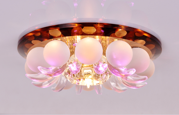 Creative LED crystal aisle lamp modern minimalist entrance hallway decorated foyer balcony Ceiling lamps with sub-control led kitchen lights balcony corridor ceiling lamps with the modern minimalist bathroom toilet waterproof panel lamp