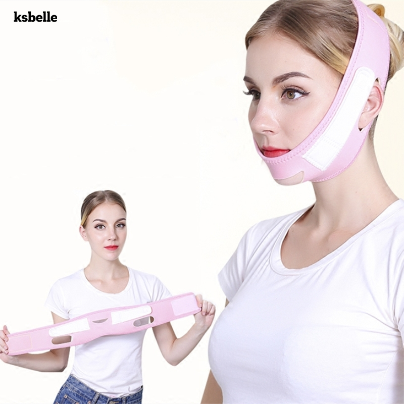 Face Slim V-Line Lift Up Mask Cheek Chin Neck Slimming Thin Belt Strap Beauty Delicate Facial Thin Face Mask Slimming Bandage pink clouds teepee tent indoor childrens play tipi