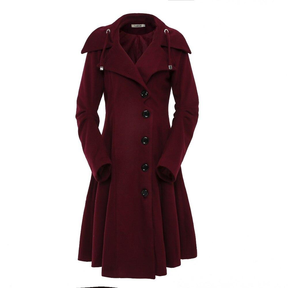 Foremode отложной воротник Однобортный тонкий Пальто для будущих мам Для женщин зимние пальто 2017 Для женщин АСИММЕТРИЧНЫМ ПОДОЛОМ