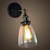 Vintage wall light glass wall lamp 110V 220V wall lamp for workroom bedroom Bathroom dinning living room swing arm wall lights