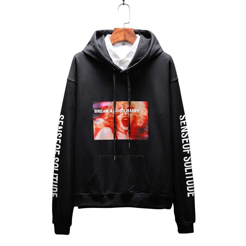 2019 Spring New Style Mens Hoodies M-5XL Slim Fit Sweatshirts Men Casual Fashion Hoodies Sudadera Hombre Moletom Masculino D03