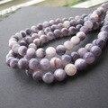 Envío Libre Bosi 6 8 10mm Cuentas de Piedras Naturales Brazalete Redondo de Piedra de Jade de color Púrpura para la joyería Que Hace