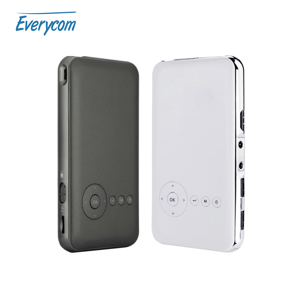 Prix pour 5000 mah batterie everycom s6 plus mini portable projecteur dlp Android wifi De Poche Projecteur AC3 Bluetooth HDMI 16 GB/32G ROM