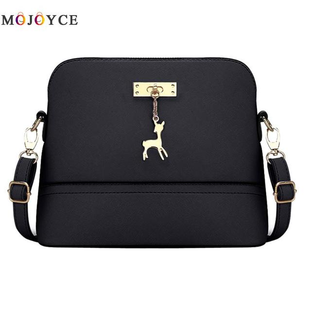 529b64124bf2 Vintage Women PU Leather Messenger Bag Shoulder Crossbody Bag Lady Small  Shell Bag Bolsa Feminina