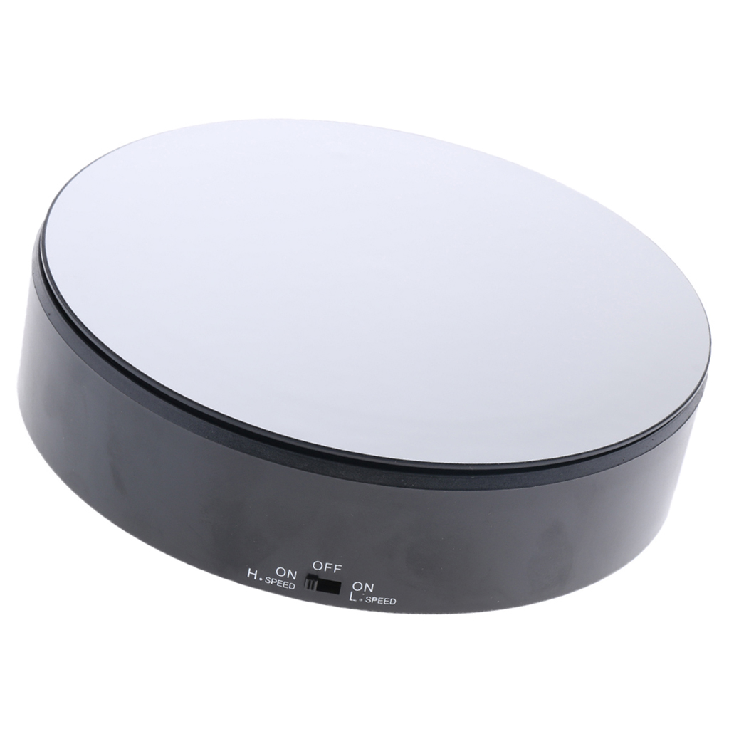ABS Electric Rotating Turntable Display Stand Merchandise Display Base For Display Jewelry Digital Product Watch Black