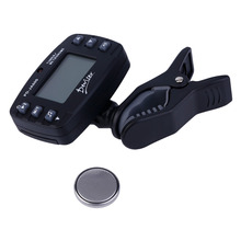 Mini Size Digital Clip-on Tuner LCD Screen Display Clip Tuner For Acoustic Electric Guitar Bass Black PD-JA600