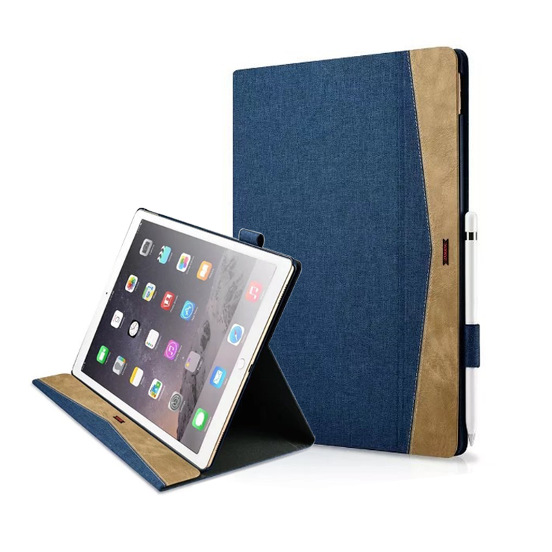 Xoomz New Fundas Tablet Cover For iPad pro 12.9 2017,Luxury Cloth Pu Leather Ultra Slim Smart Stand Case For iPad pro 12.9 2017 new luxury ultra slim silk tpu smart case for ipad pro 9 7 soft silicone case pu leather cover stand for ipad air 3 ipad 7 a71
