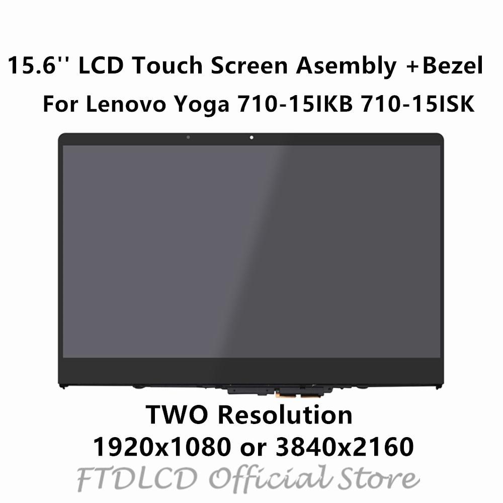 New UHD 4K LCD Screen Touch Digitizer Assembly For Lenovo Yoga 710-15IKB 80V5