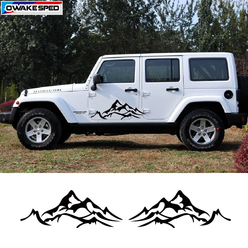 Mountain Graphics Sticker For Jeep Wrangler Renegade