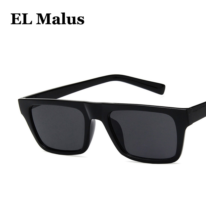 Men's Sunglasses el Malus polarized Big Square Frame Sunglasses Uv400 Men Male Silver Tan Lens Mirror Retro Brand Designer Sun Glasses Oculos Men's Glasses