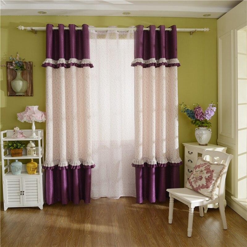 achetez en gros romantique chambre rideaux en ligne des. Black Bedroom Furniture Sets. Home Design Ideas
