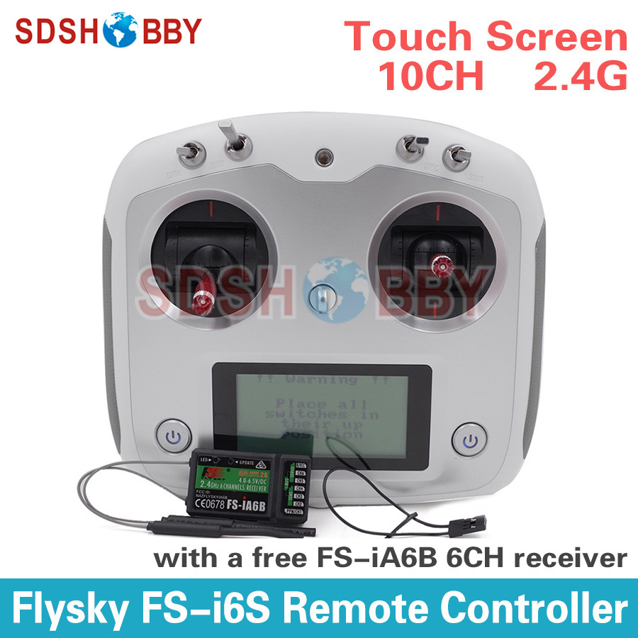Flysky FS-i6S Remote Controller 10CH 2.4G with Touch Screen + FS iA6B Receiver for RC Airplane Quadcopter Multirotor Drone a975got tbd b a975got tba ch a975got tbd ch touch pad