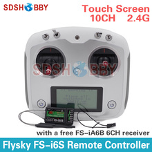 Flysky FS-i6S Remote Controller 10CH 2.4G with Touch Screen + FS iA6B Receiver for RC Airplane Quadcopter Multirotor Drone