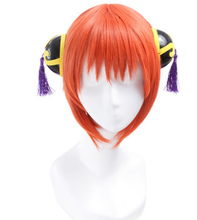Silver soul orange peluca corta cosplay kagura kagura peluca peluca del anime de la peluca cosplay del pelo