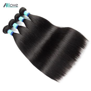 Peruvian Straight Hair Bundles 100% Human Hair Weave 1 Piece Can Buy 3 Or 4 Bundles Remy Hair Extensions 8-28 Inch Allove Hair image