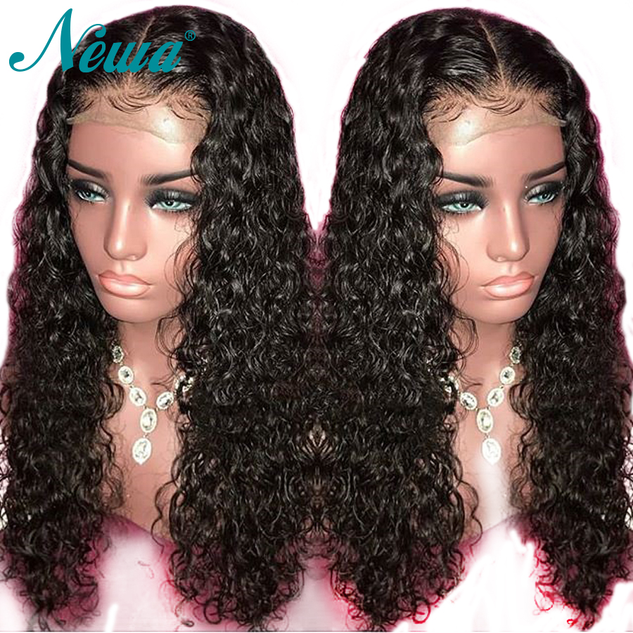 Newa Hair Lace Front Human Hair Wigs For Black Women Brazilian Curly Lace Front Wig Pre