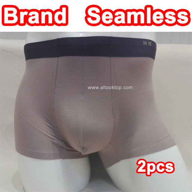 2pcs mens boxers underwear brand comfortable breathable seamless men bulge enhancing underwear sheer big pouch underwear calvn