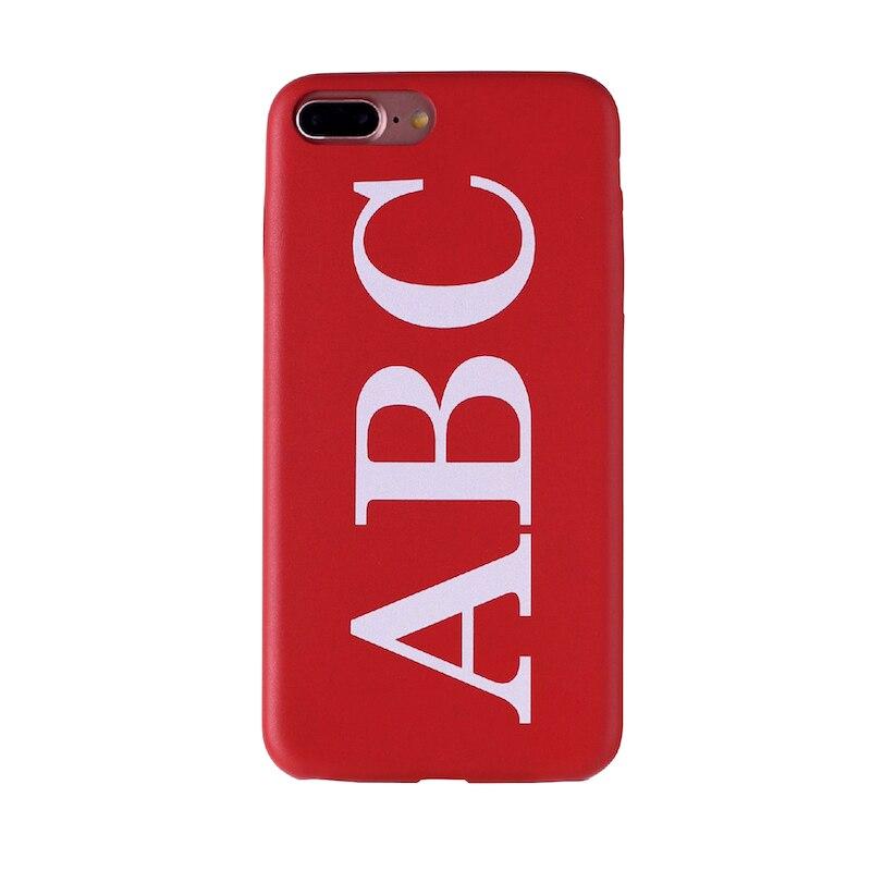 Настоящая кожа, роскошный, смелый, на заказ, с именем, текст, начальный чехол для телефона, чехол, Coque Funda для iPhone 11 Pro X 6S XS Max 7 7Plus 8Plus - Цвет: Font 1- Red Leahter