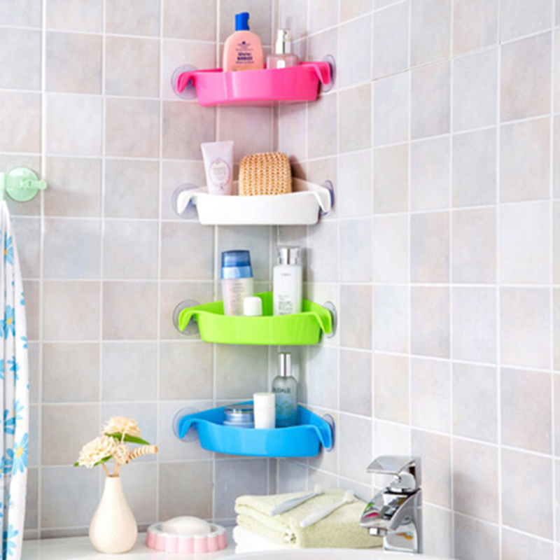 Creative Wall Mounted Sink Corner Kitchen Storage Holder Bathroom Shelves For Shelf Shelving 4 Colors In Holders Racks From