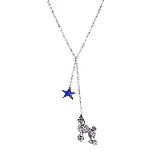 blue cabochon dp women s jiayiqi galactic star crescent com fashion amazon pendant charming moon universe necklace