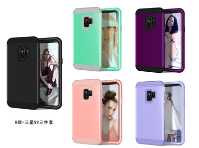 Heavy Duty Hybrid Case For Samsung Galaxy S9 S9Plus Shockproof Armor Rugged Case Cover Hard PC + Soft Rubber Silicone Phone Case (3)