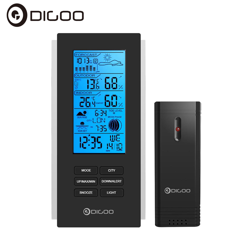 Digoo DG-TH6699 Smart Home Wireless Weather Station Barometer Forecast Thermometer USB Outdoor Sensor Clock
