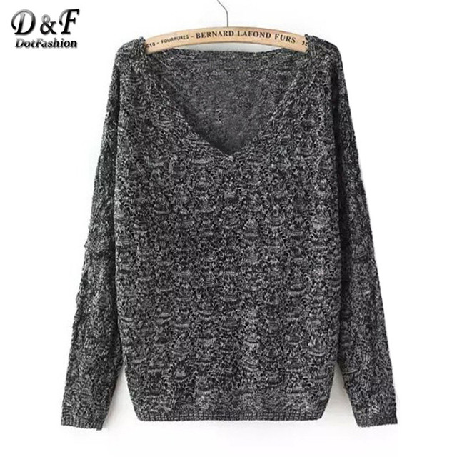 Newest Fashionable Famous Branded knitted Pullovers Korean Style Designer Casual V Neck Dark Grey Sweater
