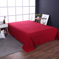 Big Red Solid Color High Quality Cotton 1 Pcs Bed Sheet Flat Sheet High Grade Bedsheet Thirteen Colors Bedclothes Free Shipping
