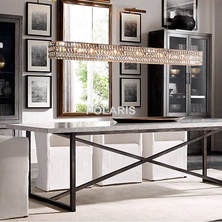 Modern Vintage Luxury K9 Crystal Chandelier Lighting Linear – Linear Candle Chandelier